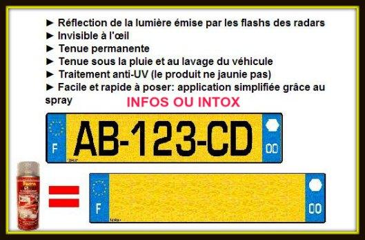 rendre plaque immatriculation anti flash